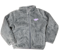 Garb Kids Full Zip Sherpa Sweatshirt with Embroidered Logo