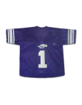 Third Street Purple Replica Football Jersey With Mascot