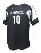 Champion Black Replica Soccer Jersey with UW-Whitewater