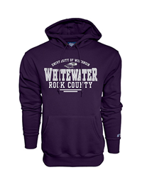 Blue 84 Purple Sweatshirt University of Wisconsin Whitewater Rock County