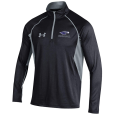 U.A. Black 1/4 Zip With Mascot Over Warhawks