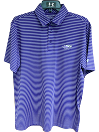 Under Armour Purple Striped Golf Polo