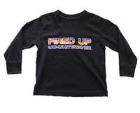 College Kids Black Long Sleeve Fired Up Uw-Whitewater