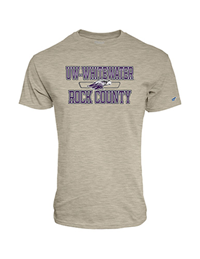 Blue 84 Oatmeal T-Shirt UW-Whitewater over Mascot and Rock County