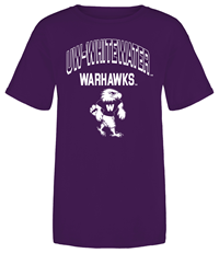 M.V Sport Youth T-Shirt Uw-Whitewater Arched Over Warhawks And Mascot